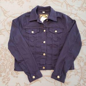 Michael Kors True Navy Denim Jacket size medium